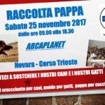 RACCOLTA PAPPA Sabato 25 Novembre 2017 ARCAPLANET NOVARA